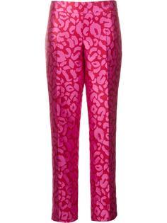 леопардовые жаккардовые брюки Oscar de la Renta