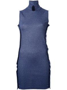 платье без рукавов с пуговичной отделкой Christopher Esber
