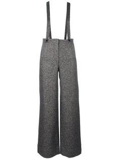 расклешенные брюки на подтяжках Roberto Collina