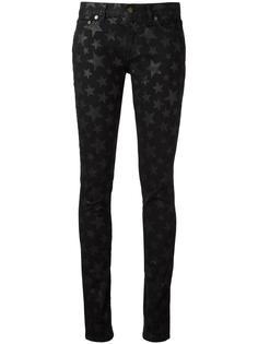джинсы скинни с принтом звезд Saint Laurent