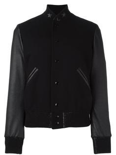 куртка со звездами на воротнике Saint Laurent