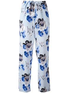 брюки с цветочным узором Theory