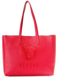 сумка-тоут с тисненым логотипом Versus