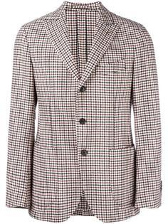 пиджак в клетку с заостренными лацканами Gabriele Pasini