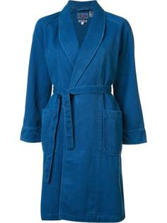 пальто с шалевым воротником Blue Blue Japan
