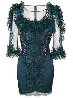 кружевное мини-платье Christopher Kane