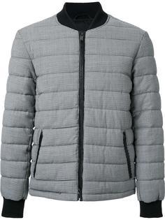 стеганая куртка-бомбер с узором в ломаную клетку Kent & Curwen