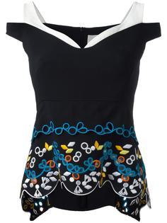 топ Cady Embroidered Tier Peter Pilotto