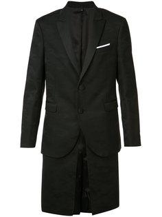 многослойный пиджак с камуфляжным узором Neil Barrett