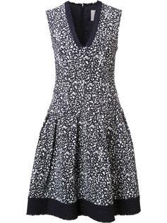расклешенное платье с V-образным вырезом Carolina Herrera