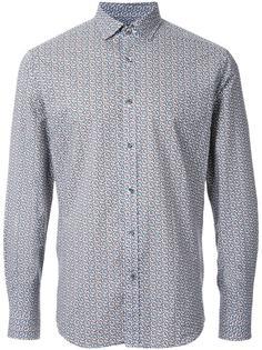 рубашка с цветочным принтом Kent & Curwen