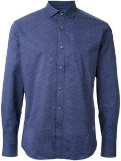 рубашка с длинными рукавами и мелким узором Kent & Curwen