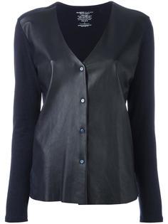 куртка с кожаными панелями Majestic Filatures