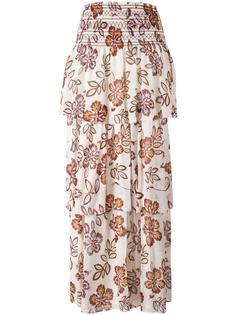 длинная юбка с цветочным принтом Tory Burch