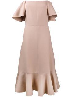 платье с открытыми плечами Valentino
