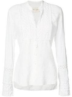 блузка с кружевными вставками Greg Lauren