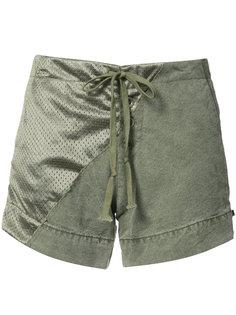 хлопковые шорты с атласной панелью Greg Lauren