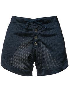 атласные шорты с перфорированным дизайном Greg Lauren