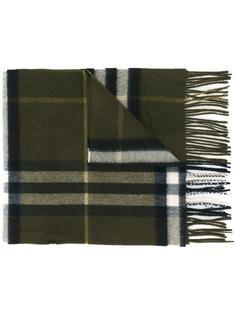 клетчатый шарф с бахромой Burberry