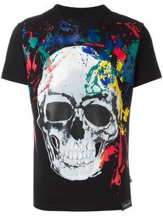 футболка с рисованным принтом Skull Philipp Plein