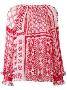 блузка с геометрическим принтом Fendi