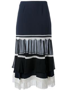 юбка А-образного силуэта с бахромой Jonathan Simkhai
