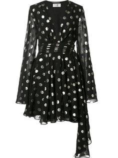 асимметричное платье в горох Saint Laurent