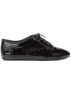 ботинки с декоративной молнией на шнуровке Saint Laurent