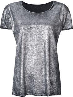 футболка с эффектом металлик Rta