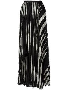 длинная плиссированная юбка Tory Burch