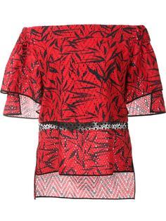 блузка с открытыми плечами Prabal Gurung