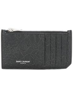 визитница Classic 5 Fragments на молнии Saint Laurent