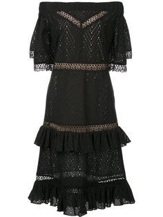 многоярусное платье с открытыми плечами Prabal Gurung