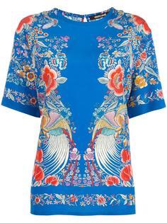 блузка с цветочной вышивкой Roberto Cavalli