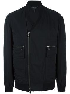 куртка-бомбер с V-образным вырезом Helmut Lang