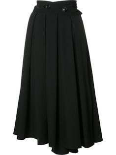плиссированная юбка с запахом Ys Y`s