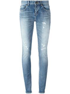 джинсы скинни со средней посадкой Saint Laurent