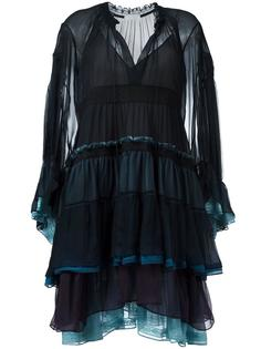 платье дизайна колор-блок Chloé