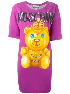 платье-футболка с принтом Moschino