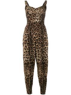 комбинезон с леопардовым принтом Dolce & Gabbana