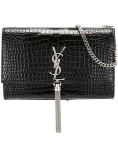 сумка среднего размера Kate Monogram с кисточкой Saint Laurent
