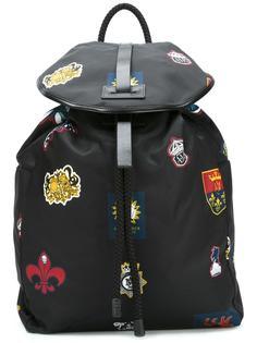 рюкзак с принтом заплаток Alexander McQueen