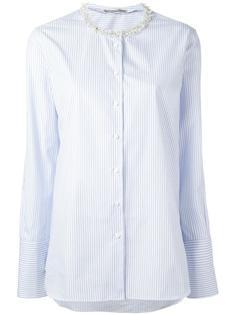 рубашка в полоску с декорированным вырезом Ermanno Scervino