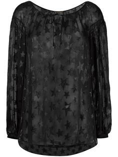 блузка с принтом звезд Saint Laurent