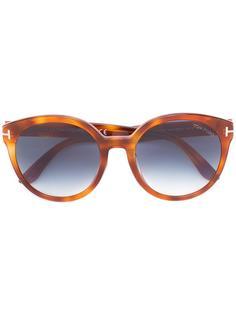 солнцезащитные очки с узором черепашьего панциря Tom Ford Eyewear