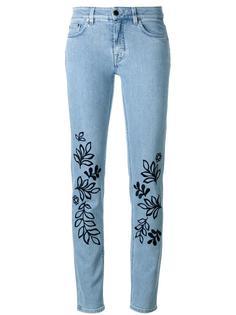 джинсы скинни с вышивкой Victoria Victoria Beckham