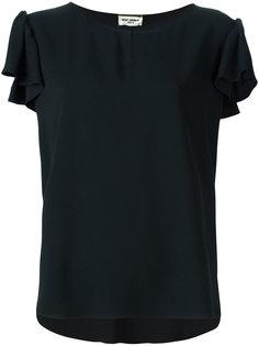 блузка с вырезом замочная скважина Saint Laurent