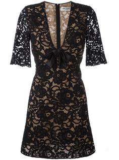 кружевное коктейльное платье  Saint Laurent