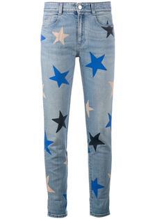 укороченные джинсы с принтом звезд Stella McCartney