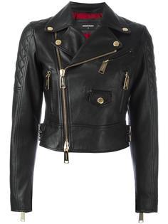 байкерская куртка со стеганой отделкой Dsquared2